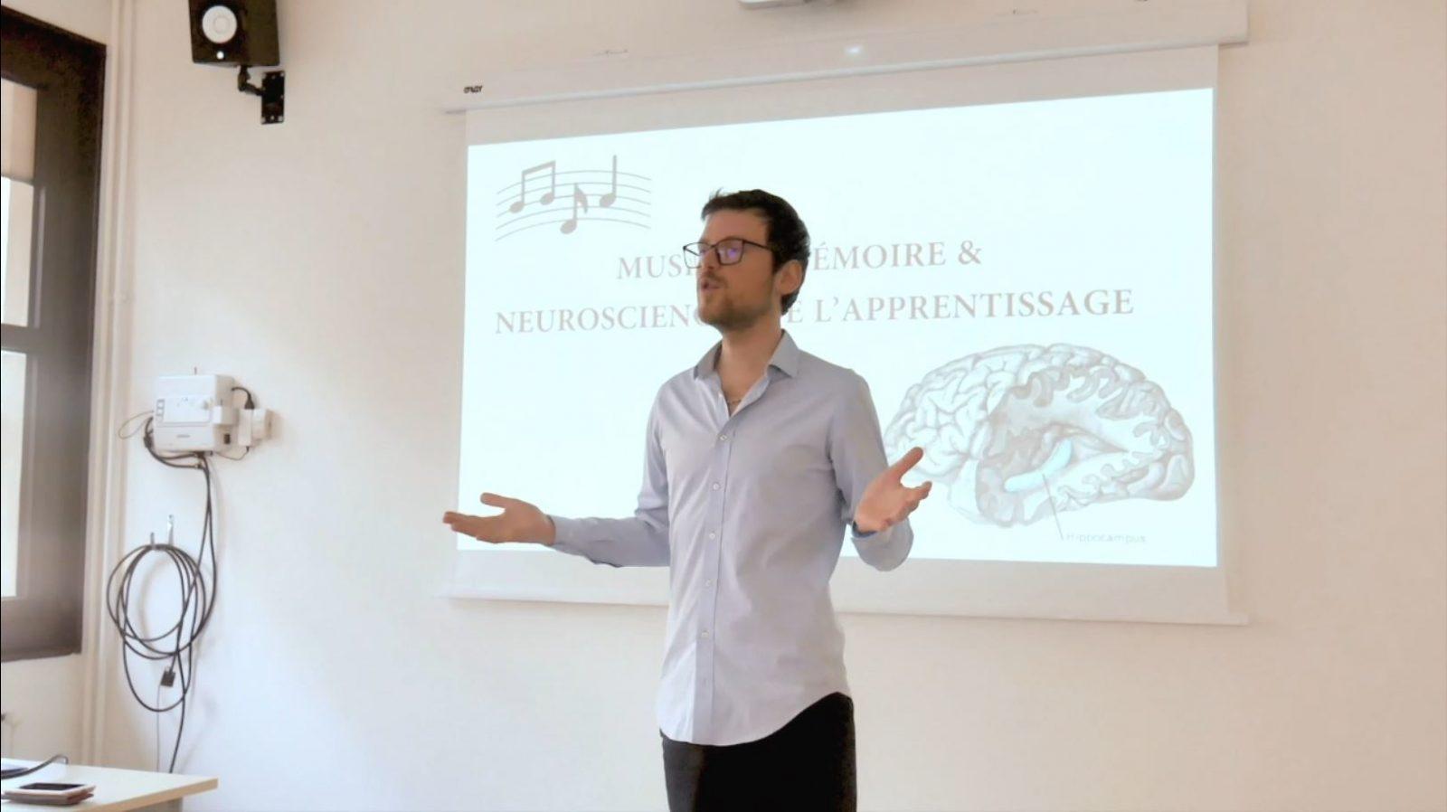 Roman Buchta conférence au conservatoire national supérieur de musique et de danse de Lyon