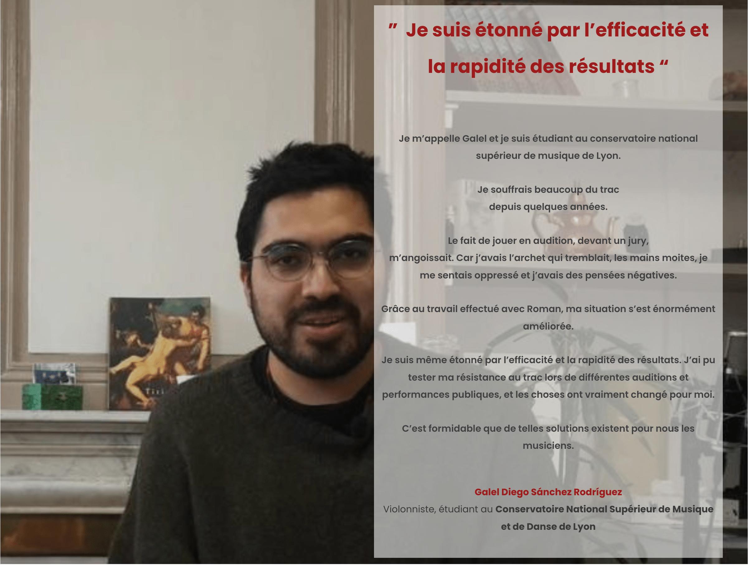 Ouimusique Témoignage Galel violoniste conservatoire nationale supérieur de Lyon