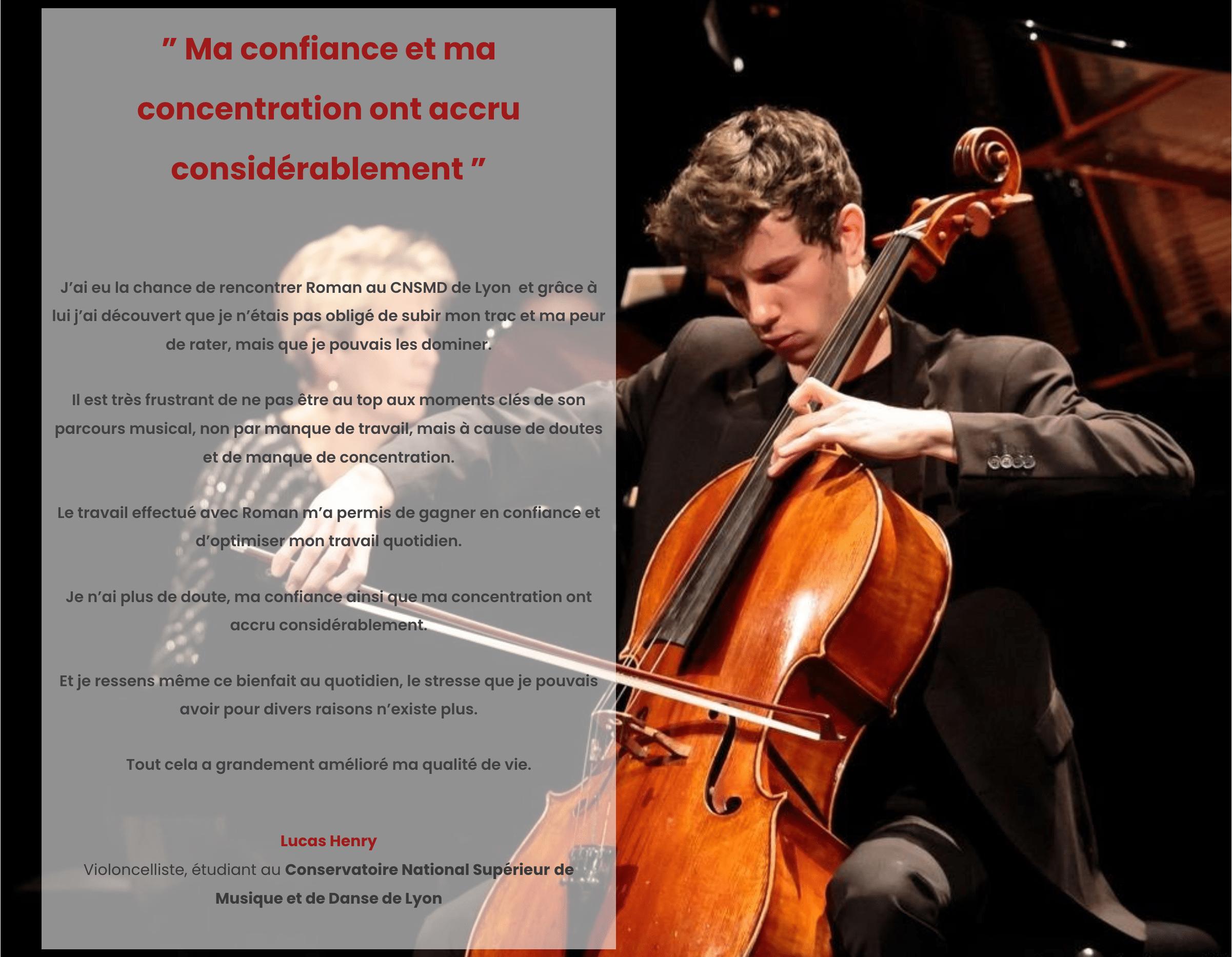 Ouimusique Témoignage Lucas violoncelliste étudiant conservatoire nationale supérieur de Lyon